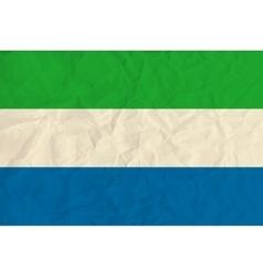 Sierra leone paper flag vector