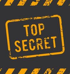 Top secret rubber stamp vector
