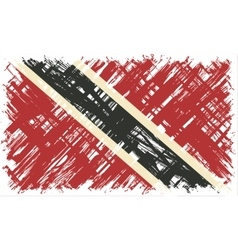 Trinidad and Tobago grunge flag vector image