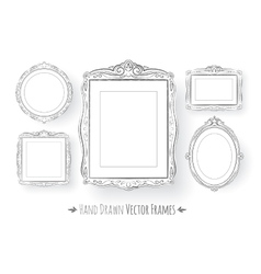 Vintage baroque frames set vector