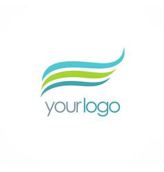Wave water eco logo vector