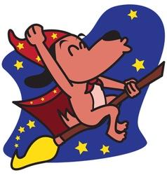 Wizards dog vector