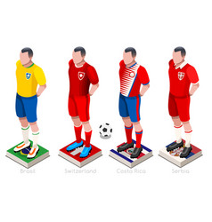 World cup football shirts vector