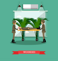 wounded soldier concept in vector image