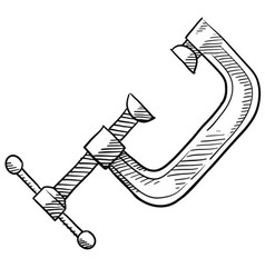 Doodle vice clamp vector