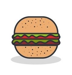 fast food burger vector image