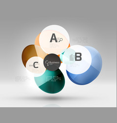 Circle modern business infographics design vector