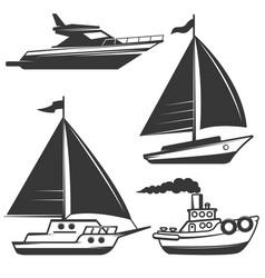 Fishermans boat vector