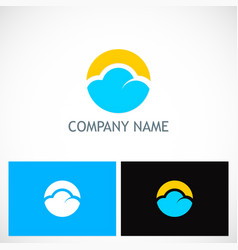 cloud round technology logo vector image