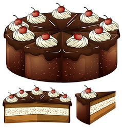 A mouthwatering chocolate cake vector image