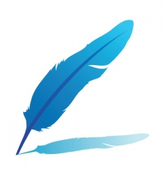 Feather quill vector