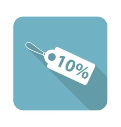 Square discount icon vector