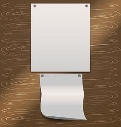 blank sheets vector image