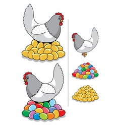 hen eggs vector image