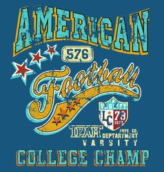 American football college champ crack vector