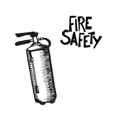Hand drawn fire extinguisher vector
