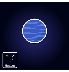 Icons with neptune and astrology symbol of planet vector