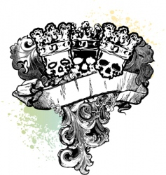 Skull kings banner vector