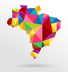 Abstract Brazil map vector image vector image