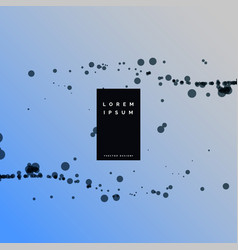 Abstract particle black dots background vector