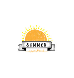 badge as part of the design - sun and summer vector image vector image