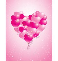 balloons heart vector image