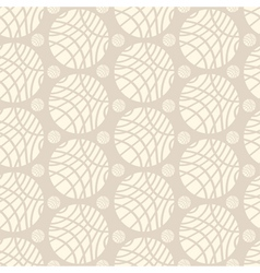 Big and small striped ivory spheres on beige vector