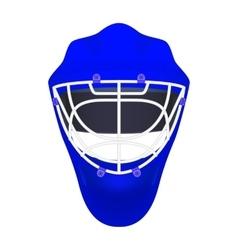 Blue goalie hockey helmet vector