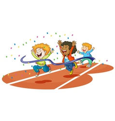 boys playing on ground vector image vector image