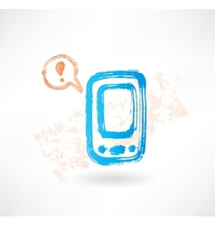 Brush icon with cellphone and bubble speech vector image
