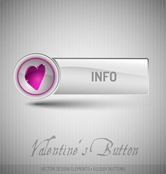 button with pink heart Modern design elements with vector image vector image