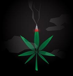 Cannabis burned vector