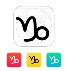 Capricorn zodiac icon vector