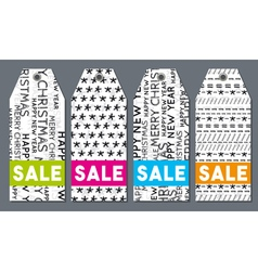 Christmas labels with sale offer vector image
