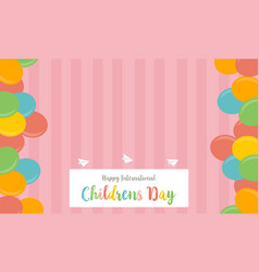 Collection stock childrens day cute background vector