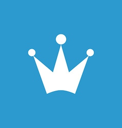 Crown icon white on the blue background vector