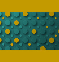 design background with floating circles of yellow vector image