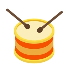Drum isometric 3d icon vector
