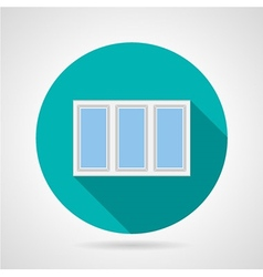 Flat icon for plastic window vector image vector image