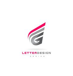 G letter logo design futuristic modern lettering vector