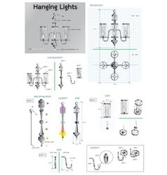 hanging lights vector image