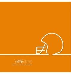 Helmet American Football vector image vector image
