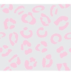 leopard light pink vector image vector image
