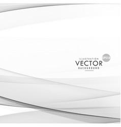 Modern gray wavy background design vector