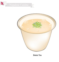 Po cha or nepalese butter milk with salted flavor vector