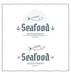 Seafood logo vector image vector image