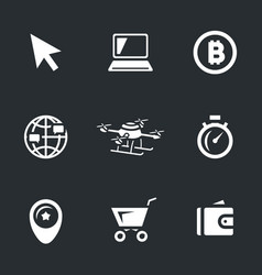 Set of online shop icons vector