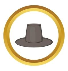 Traditional korean hat icon vector