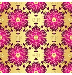 Vintage golden seamless pattern vector image vector image