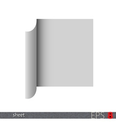 Folded paper sheet vector